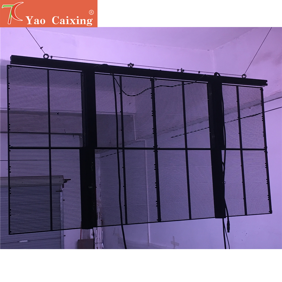 5500cd High Brightness P3.91x7.81 Store Shop Glass Window Advertising Transparent Led Display Screen