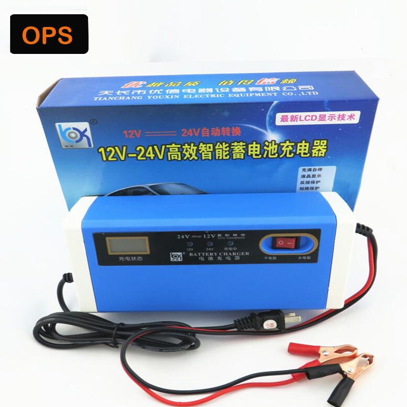 New LCD 12/24 V 10A Auto-acculader Smart Motorfiets Lood-zurr Oplader & 4AH-200AH lead acid smart charger for Motorcycle