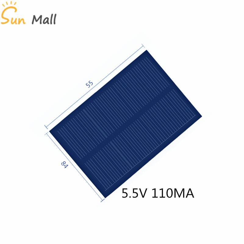 Poly Solar Panel 5.5V 100MA For DIY Science And Technology Production Of Photovoltaic Panels 84*55MM