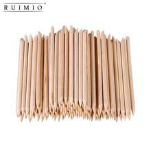 100pcs Multi-functional Nail Art Polish Orange Wood Sticks Cuticle Pusher Removers