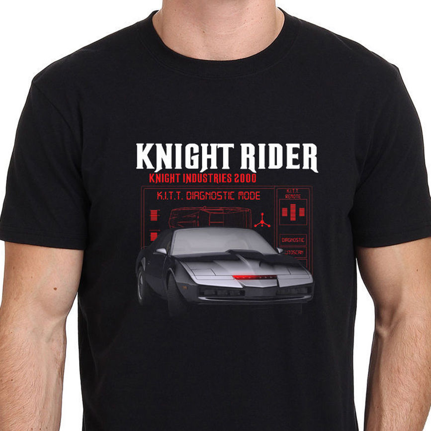 Knight Rider KITT Retro TV HASSELHOFF EIGHTIES 80s Mens T-Shirt Size S To 3XL Men T Shirt Print Cotton Short Sleeve T-Shirt