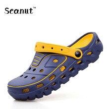 SEANUT Hommes Sandales de Plage En Plein Air Glissement Sur Les Hommes Chaussures D'été Pantoufles Hommes Sandales Marque Pantoufles Zapatillas Hombre 39-44