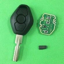 1 шт./лот 3 Кнопочным Пультом Дистанционного Ключа Для E38 E39 E46 4 трек Системы EWS 433 МГЦ/315 МГЦ С HU58 Uncut Blade PCF7935AS Чип Inisde
