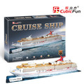 Candice guo! Hot sale 10% off 3D puzzle toy CubicFun 3D paper model toy jigsaw game cruise ship