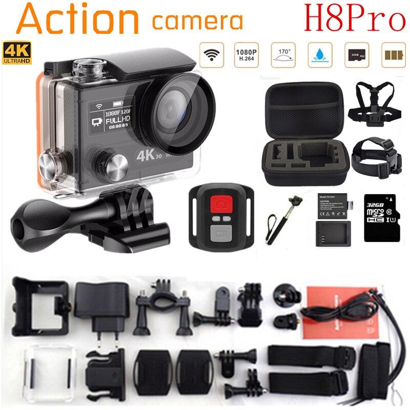 Acción cámara Ambarella H8PRO A12 4 K 30fps/1080 P 120fps WiFi Pantalla Dual rem