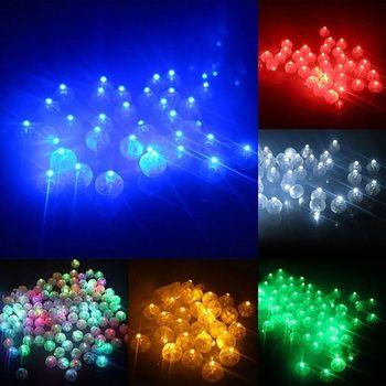 10 unids/set Mini lámpara de bola de luz LED para Globo linterna decoración de fiestas de cumpleaños niños brillan en la oscuridad juguetes 6 colores