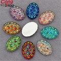 100 UNIDS 10*14/13*18mm AB Color Crystal Rhinestones de Acrílico Oval flatback Scrapbooking artesanía Accesorios de la joyería ZZ30