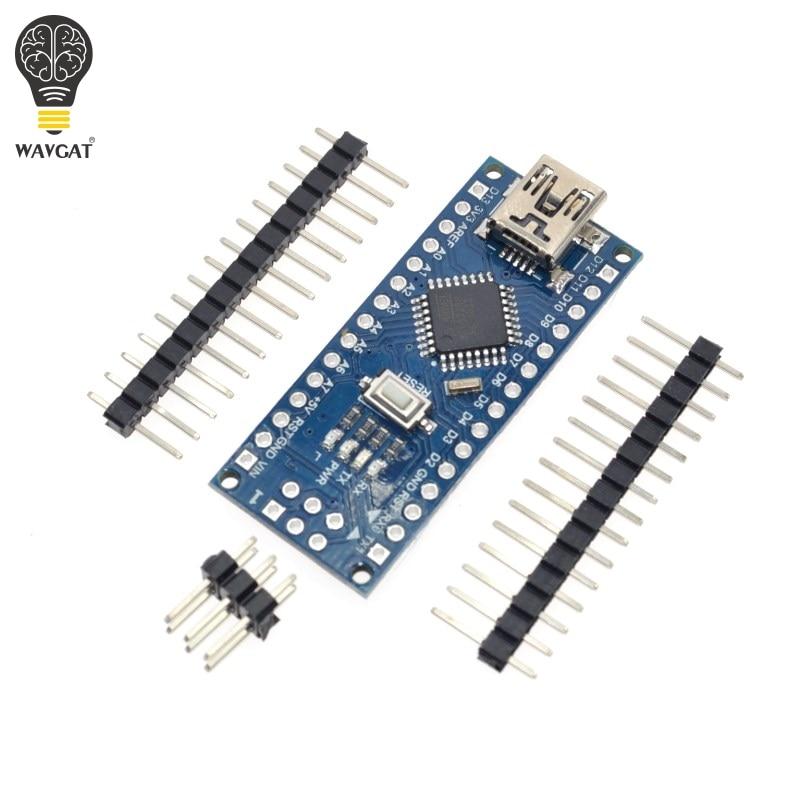 1PCS Promotion For arduino Nano 3 0 Atmega328 Controller Compatible Board WAVGAT Module PCB Development Board