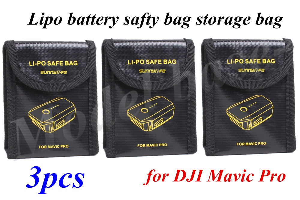 3pcs Lipo battery safty bag storage bag for DJI Mavic Pro RC Drone battery