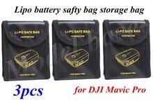 3 шт. Липо безопасности мешок хранения для dji Мавик pro rc Drone батареи