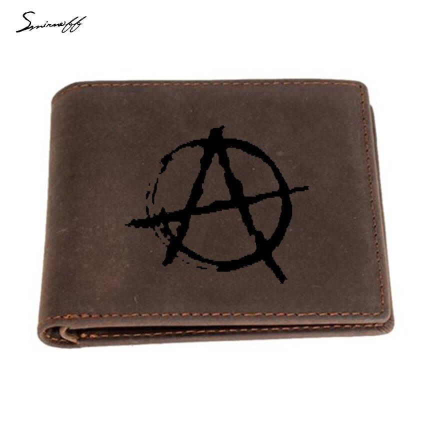 ANARCHY SYMBOLE-Punk Logo Portefeuille en cuir