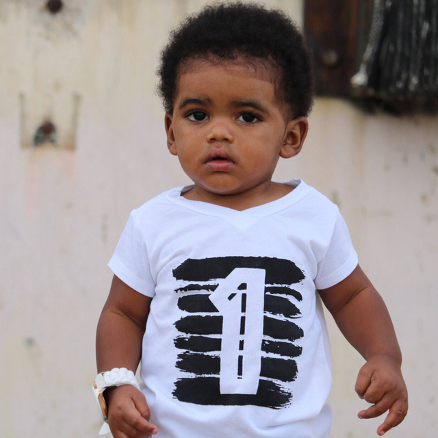 Kid's Number Printed T-Shirts