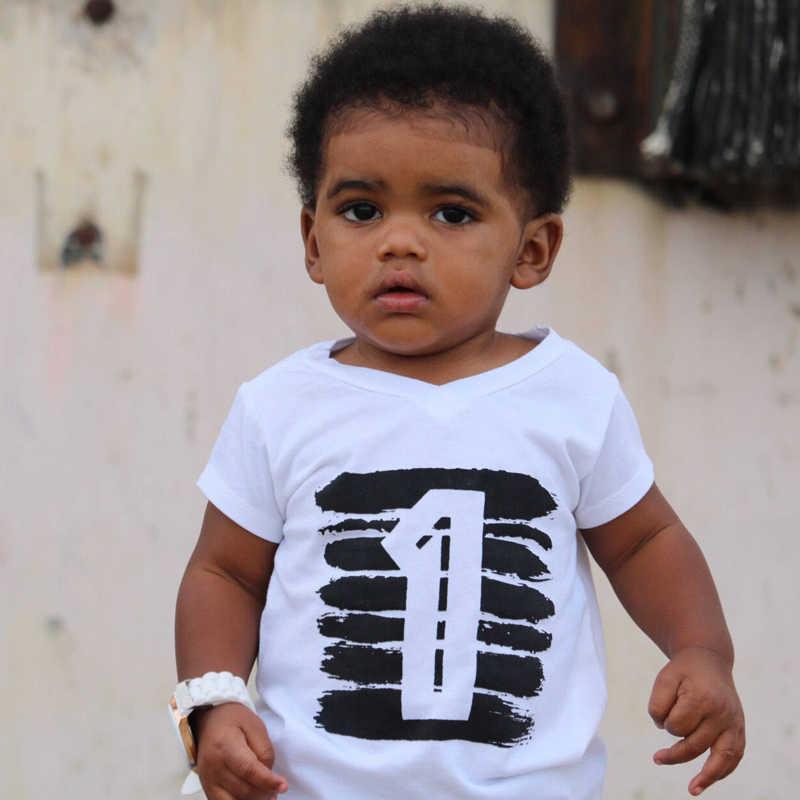 Summer Baby Boys T Shirt For Girl Tops White Black 1 2 3 4 Years