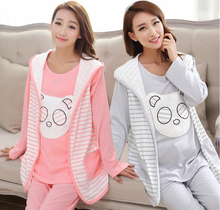 Autumn Winter Sleepwear for pregnant women clothing breast feeding clothes pregnant women pajamas home nursing clothes