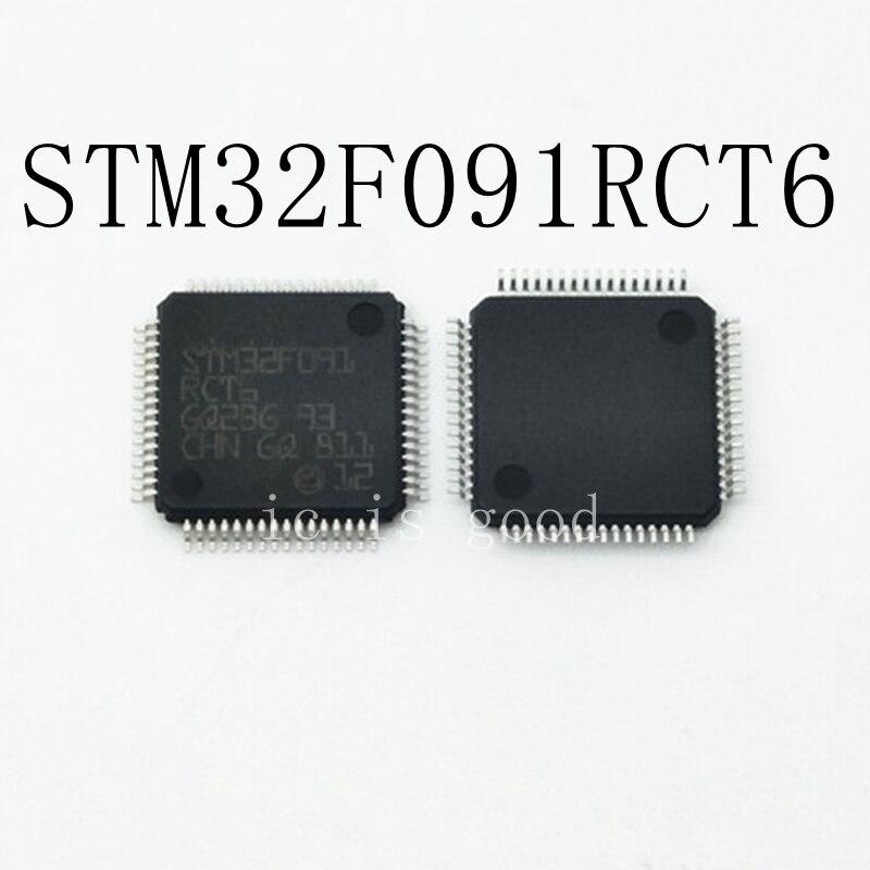 5PCS LOT STM32F091RCT6 STM32F091 RCT6 LQFP 64 MCU Microcontroller NEW