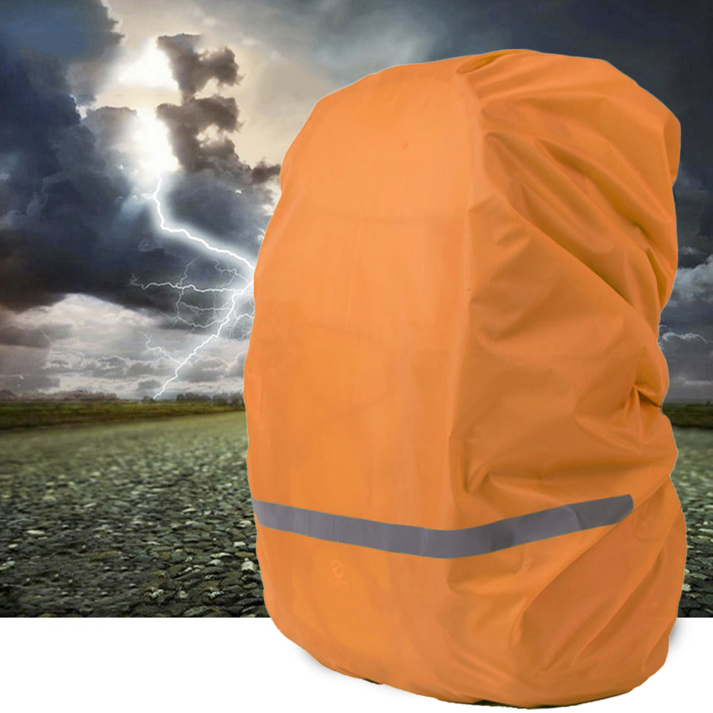 Image 1 - Reflective Light Waterproof Dustproof Backpack Rain Cover Portable Ultralight Shoulder Bag Protect Outdoor Tools-in Raincoats from Home & Garden