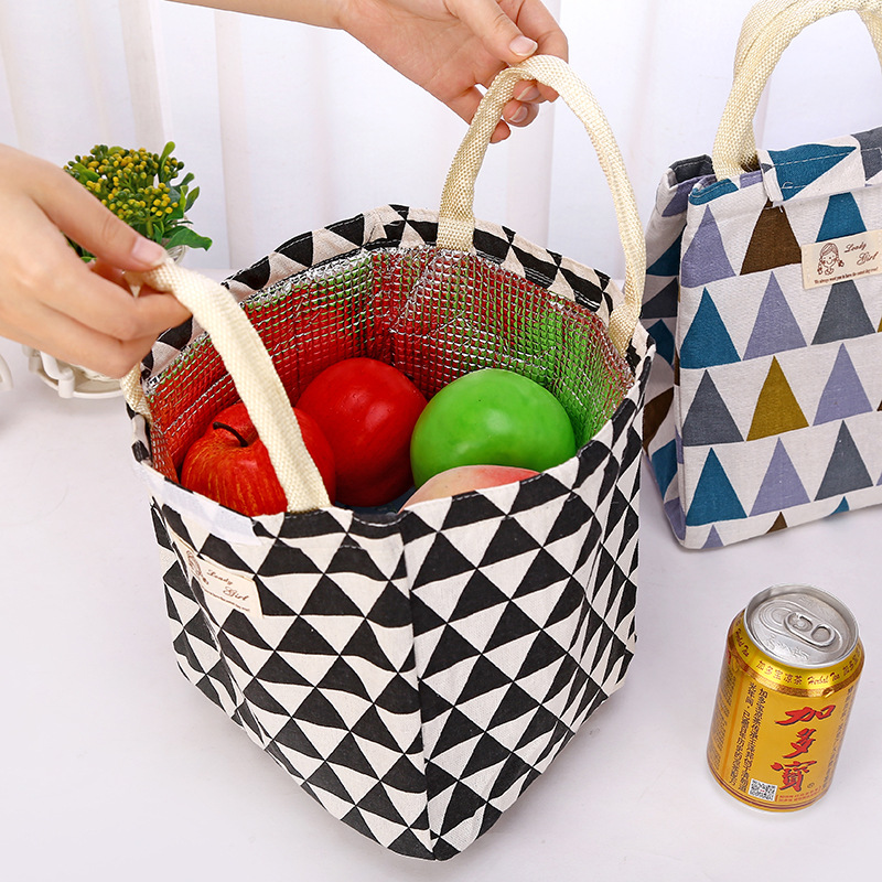 Portable Lunch Bag Insulated Cooler Bags Thermal Food Picnic Lunch Bags Women Kids Men Lunch Box Bag Tote