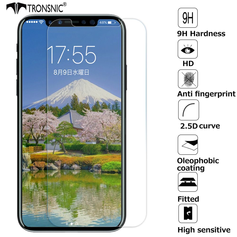 Gehärtetem Glas für <font><b>iPhone</b></font> 11 Pro XR X XS Max Screen Protector für <font><b>iPhone</b></font> 5s Se <font><b>6</b></font> 6s 7 8 plus Scratch Proof Film Anti <font><b>Fingerprint</b></font> image