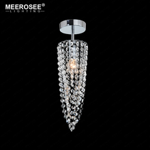 Small Crystal Chandeliers Aisle Hallway Mini Crystal Lamp for Cocina Corridor Cristal Lustres Light Chandeliers