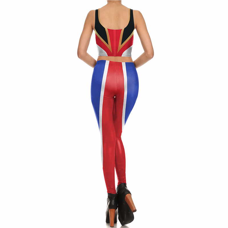Fans Wear Push Up Leggings Women 3D Pants Sports Leggin Fitness Halloween Leggings Cosplay for Party