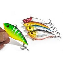 SEALURER 5PCS Fishing Sinking VIB Lure 11g 7cm Vibration Vibe Rattle Hooks Baits Crankbaits 5 Colors Free Shipping