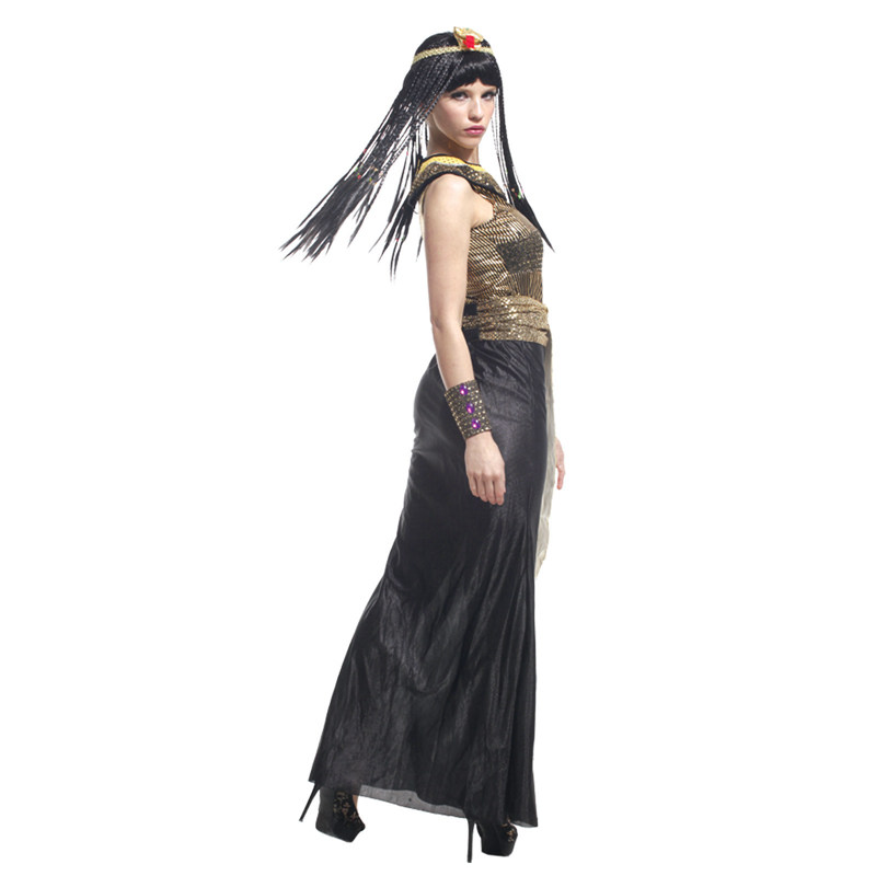 Adult Ancient Egypt Egyptian Empress Queen Halloween Costume 4