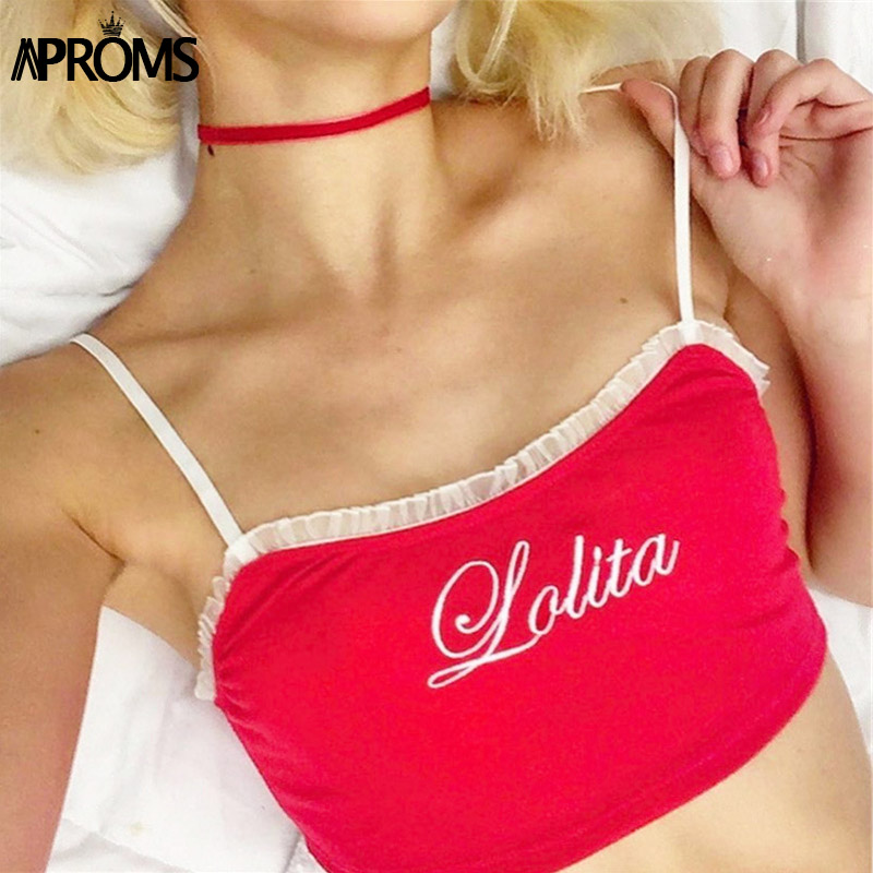 Aproms White Pleated Trim Embroidery Camis Women Slim Fit Crop Top Summer Short Little Tank Tops Cool Girls Streetwear Camisole