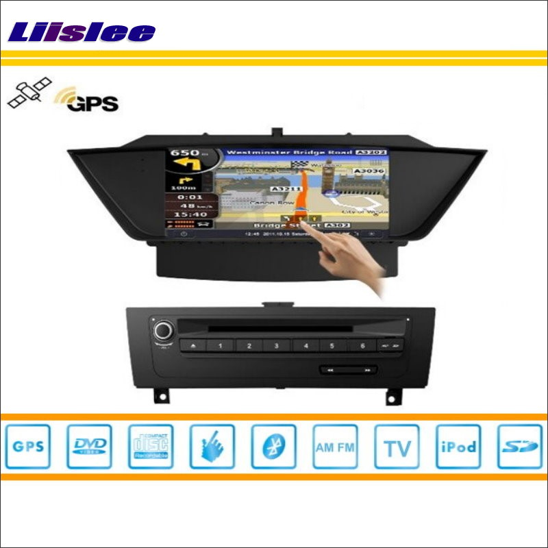 Liislee Car GPS Nav Navi Navigation For BMW X1 E84 2009~2013 Radio Stereo TV DVD iPod BT HD Screen S100 Multimedia System