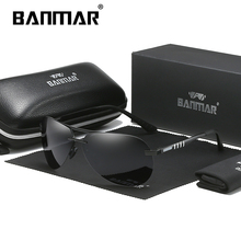 лучшая цена BANMAR Pilot Polarized Sun glasses Men Sunglasses Brand Designer Sports Goggles Driving Fishing Hiking Eyewear Oculos De Sol
