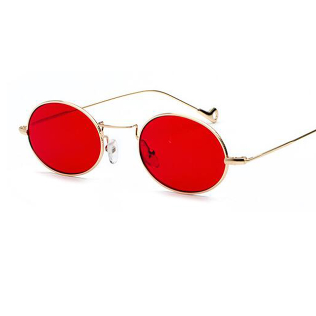 090412ad82 clear oval sunglasses metal gold small frame trendy glasses 2018 fashion  Mens Red Shades women brand eyeglasses lady UV400