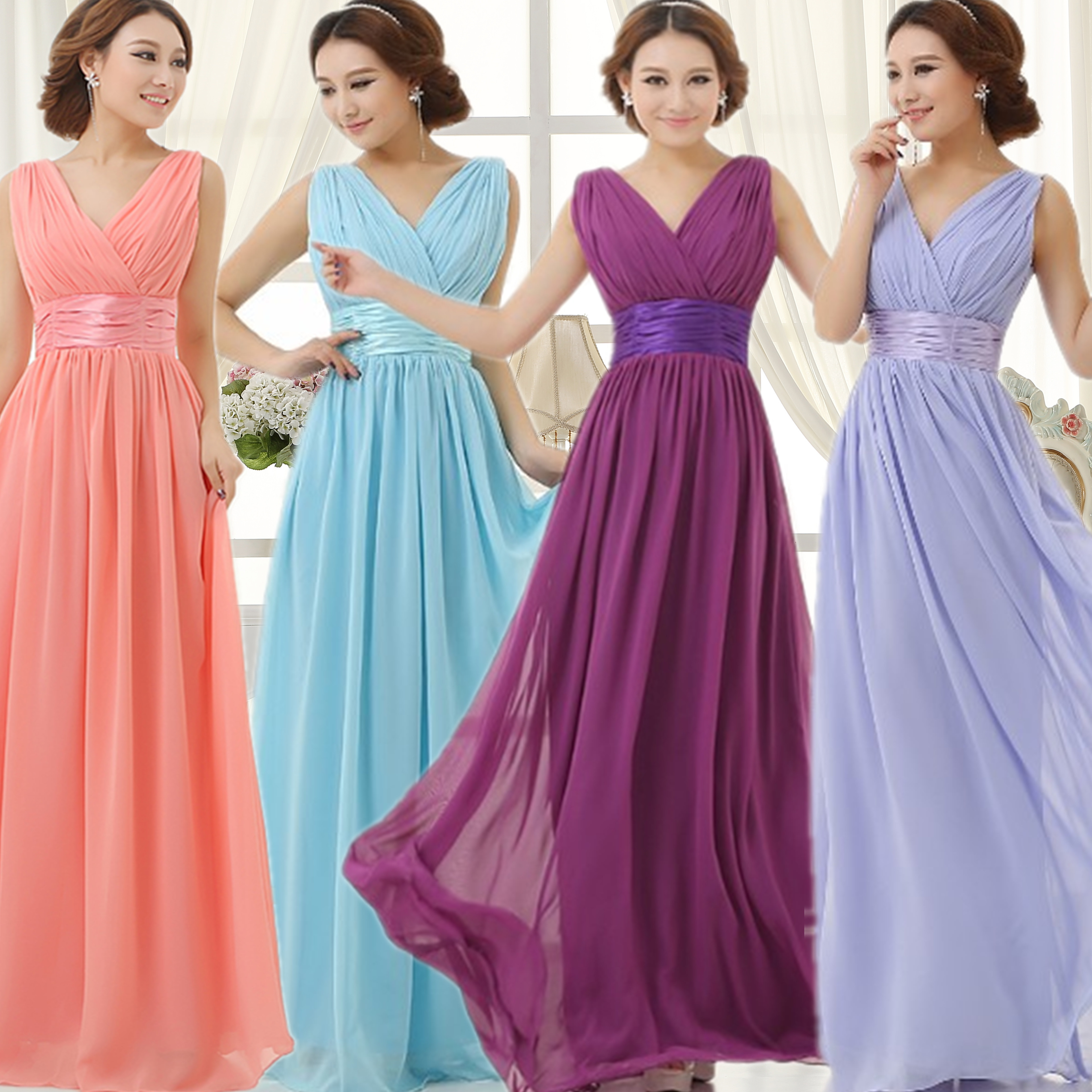 Online Buy Wholesale purple violet bridesmaid dresses from China ...