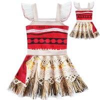Baby Girls Felici Moana Cosplay Dress Kids Halloween Party Gown Children Fly Sleeve Ballet Tutu Dress Toddler Vestido Infantil