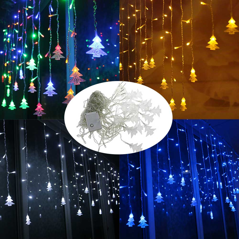 Outdoor decorative lamp string ac 220v window xmas the eaves outdoor decorative lamp string ac 220v window xmas the eaves railing christmas tree pendant decor led lamp string belt tail plug in led string from lights aloadofball Gallery