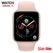 44mm 케이스 블루투스 스마트 시계 시리즈 4 심장 박동 모니터 smartwatch 안드로이드 ios 보수계 relogio inteligente
