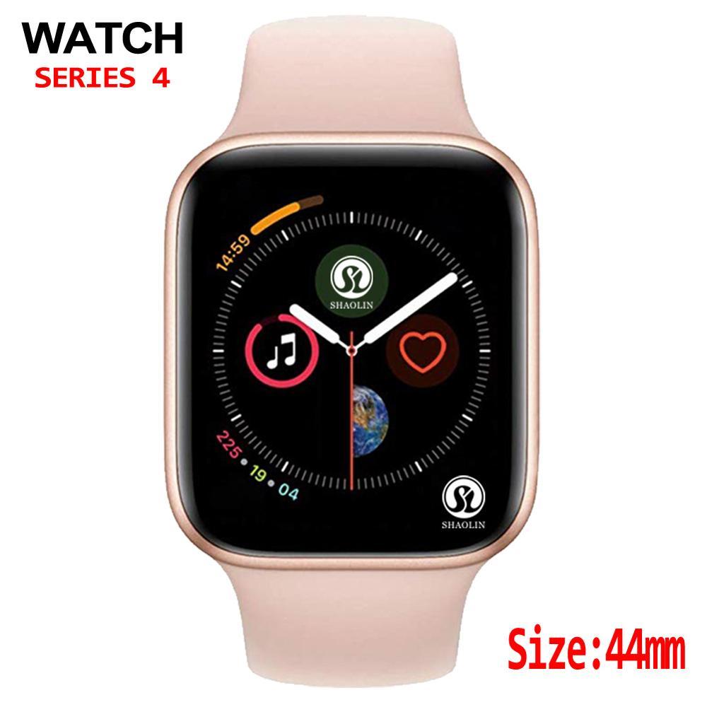 44mm boîtier Bluetooth montre intelligente série 4 moniteur de fréquence cardiaque smartwatch android pour IOS podomètre relogio inteligente