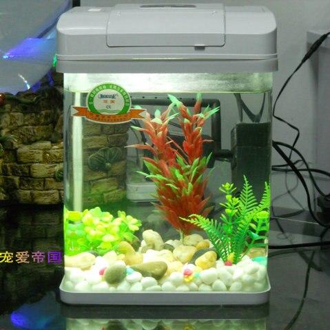 chamie ultrawhite glass fish tank mini aquarium desktop fish tank