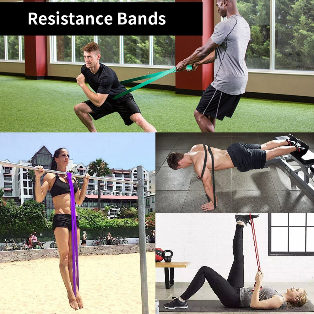 Resistance Bands Gym Home Exercise Elastic Rubber Band for Men Women Yoga Pilates Strength Weight Training Fitness Equipment (8)