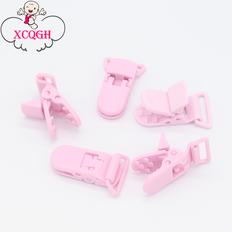 XCQGH 5PCS Baby Plastic Pacifier Clip Holder Soother Mam Infant Dummy Clips Chain for 20mm Ribbon Toddler Kids Clip