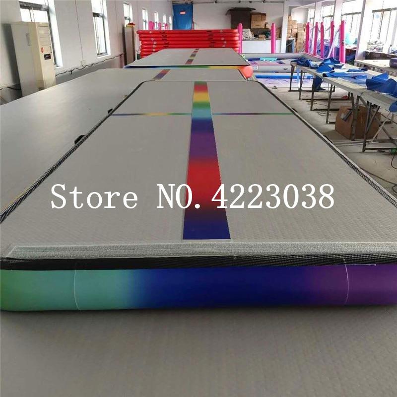 Livraison gratuite Gym utiliser 4x1x0.2 m piste d'air gonflable culbutant sol tapis d'entraînement de gymnastique tapis de gymnastique Taekwondo tapis d'air