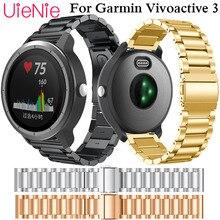 Wristband For Garmin vivoactive 3 stylish and simple business strap metal stainless steel bracelet wrist slingshot buckle