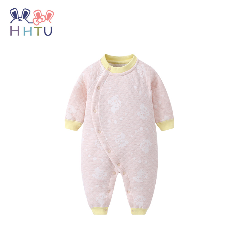 aa36efacc86 HHTU Newborn Quilted Cotton Keep Warm Baby Boys Girls rompers Clothing  Autumn Winter Infants Jumpsuits Boneless Sewing Tags