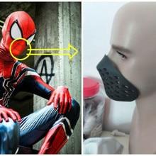 Черная и красная силиконовая маска с изображением Человека-паука, маски на месяц, маска для костюмированной вечеринки Человека-паука, реквизит для Хэллоуина, чехол для лица, один размер, подходит для большинства