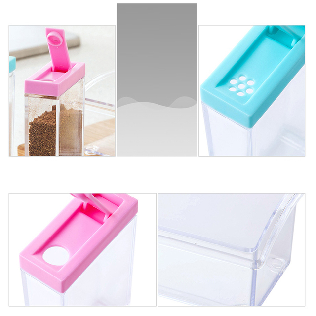 Kitchen Spices Storage Transparent Boxes