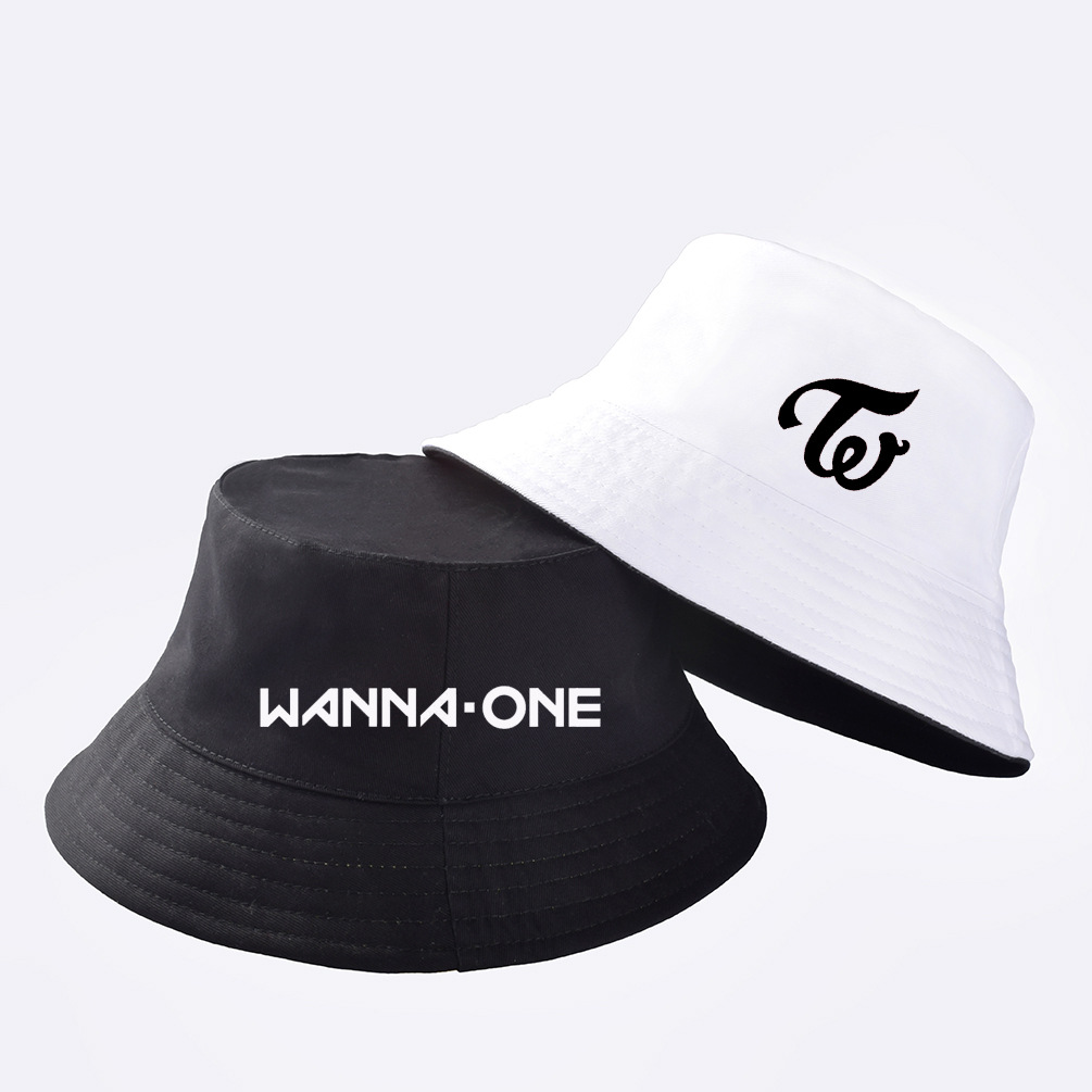 d1bcdf514b160b Detail Feedback Questions about kpop Blackpink Got7 WannaOne Twice  Surrounding Same paragraph Aid Double sided fisherman hat Men and women sun  hat Couple ...