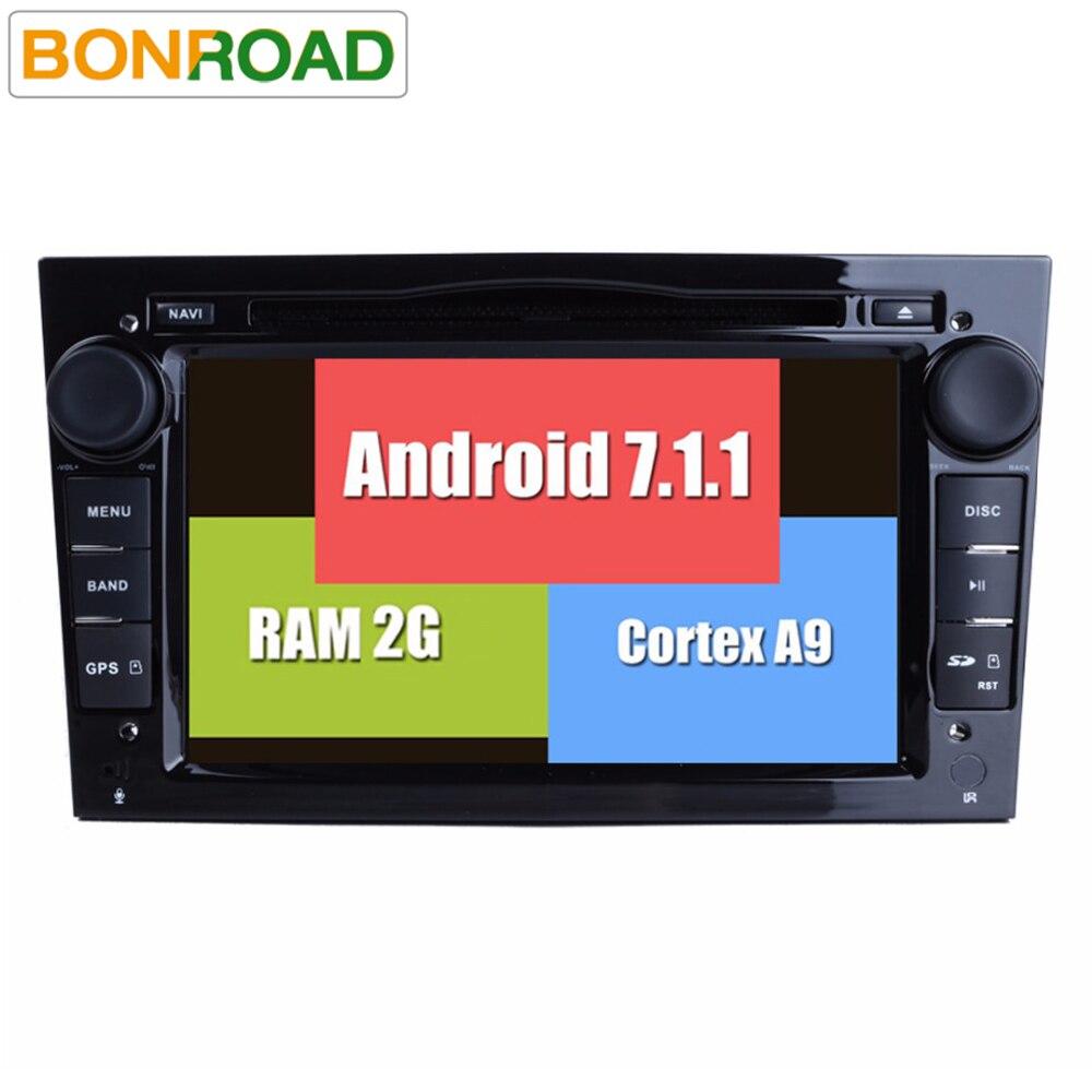 imágenes para 7.1.1 androide RK3188 2G RAM Quad Core HD 1024*600 2 DIN DVD del coche Para Opel Astra Vectra Zafira Antara Corsa GPS de Navegación Radio