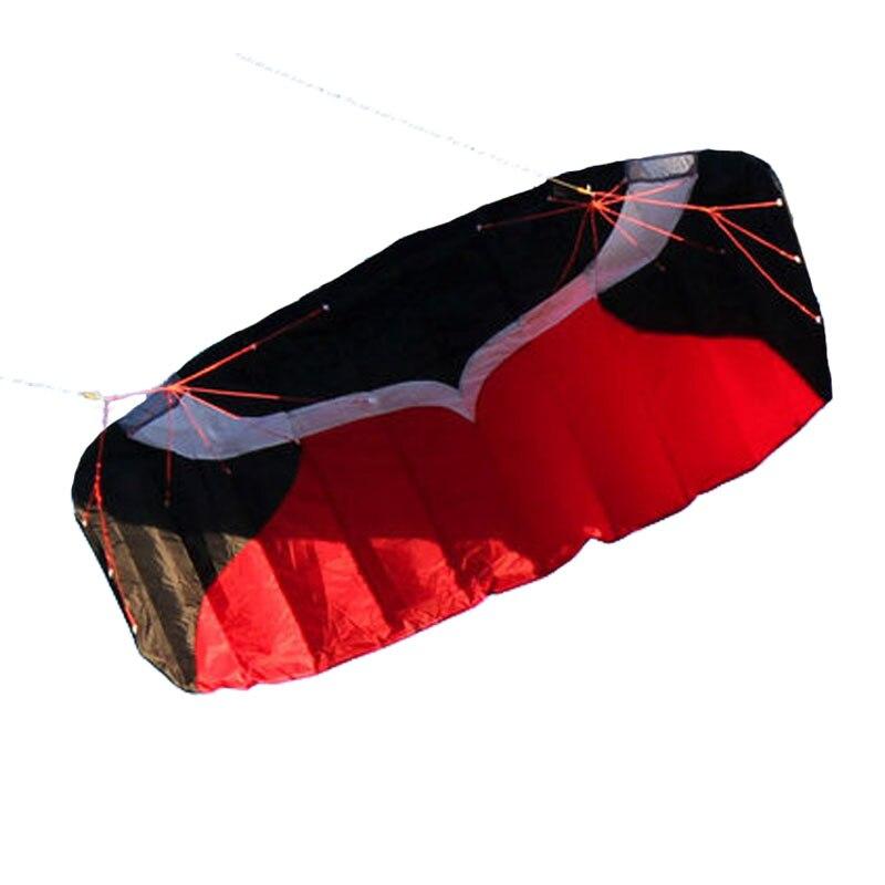 Cerf-volant Parafoil double ligne professionnel 2m avec ligne de tresse de voile Kitesurf plage de sport