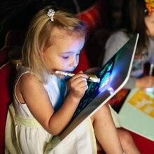 Светильник для рисования, забавная развивающая игрушка, доска для рисования, портативная доска для детей, WIF66