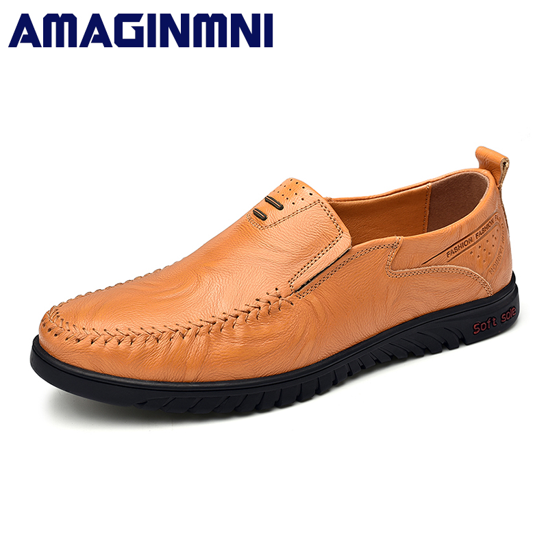Big Size 38-47 New Arrival Split Leather Men Casual Shoes Fashion Top Quality Driving Moccasins Slip On Loafers Men Flat Shoes surgut brand new colors cow split leather men flat shoes brand moccasins men loafers driving shoes fashion casual shoes hot sell