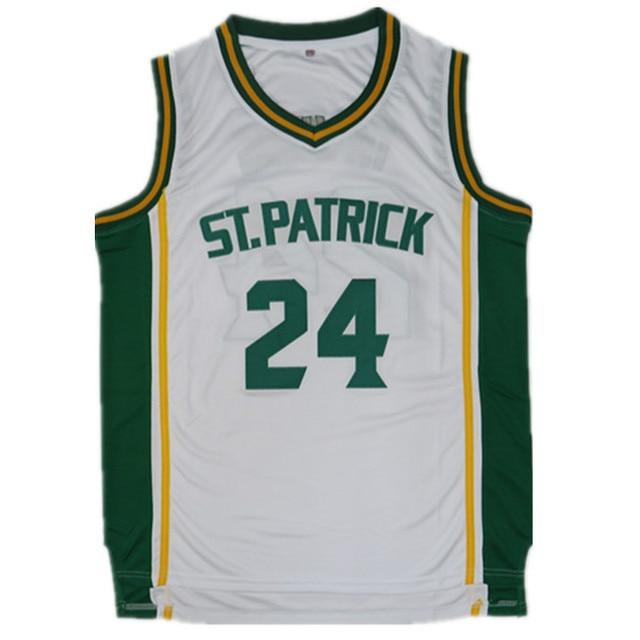 ireland 2018 mens kyrie irving 24 st.patrick high school white basketball  jersey throwback sewn 04e0d36e7