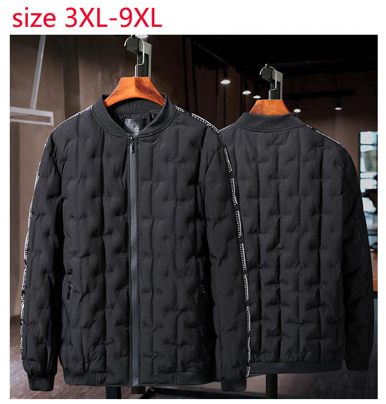 2019 New Arrival Fashion Super Large Padded Jacket Young Men Casual Winter Mens Autumn Plus Size 3xl 4xl 5xl 6xl 7xl 8xl 9xl